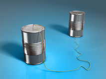 Tin can phone Stock Photos