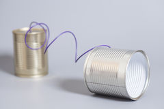 Tin can phone Royalty Free Stock Image