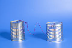 Tin can phone Royalty Free Stock Photo