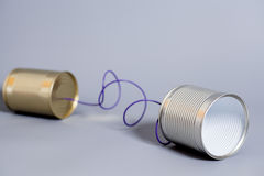 Tin can phone.communication concept Royalty Free Stock Photography