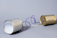 Tin can phone.communication concept Royalty Free Stock Image