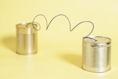 Tin can phone.communication concept Royalty Free Stock Images