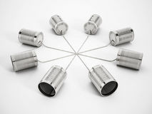 Tin can phone network Royalty Free Stock Image