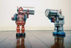 Tin Can Phone Robots Royalty Free Stock Photos