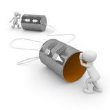 Tin Can Phone vector illustration