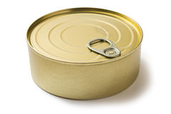 Tin can with preserves. On white background Stock Image