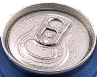 Tin can and ring pull covered in moisture Stock Image