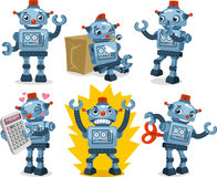 Tin can robot action set Stock Photography