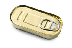 Tin can of sardines Royalty Free Stock Image