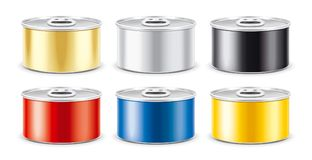 Tin Can. Silver version. With ring royalty free stock images