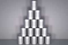 Tin can stack Royalty Free Stock Photography
