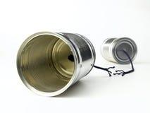 Tin Can Telephone Fotos de archivo libres de regalías