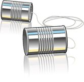 Tin Can Telephone Royalty Free Stock Photo