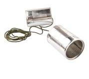 Tin Can Telephone III Imagen de archivo libre de regalías