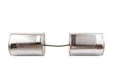 Tin Can Telephone V Royalty Free Stock Photos