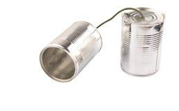 Tin Can Telephone VI Foto de archivo libre de regalías