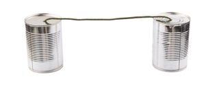 Tin Can Telephone VII Fotografía de archivo libre de regalías