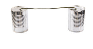 Tin Can Telephone VII Royalty Free Stock Photography