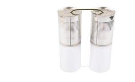 Tin Can Telephone VIII Imagenes de archivo