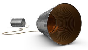 Tin Can Telephones Royalty Free Stock Images