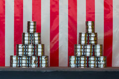 Tin can throwing Royalty Free Stock Photos