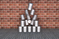Tin can to fall over Royalty Free Stock Photos
