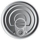 Tin can top Royalty Free Stock Image
