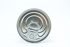 Tin can top. On a white background Royalty Free Stock Image