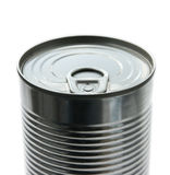 Tin can top aligned Stock Image