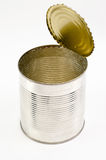 Tin can with top raised Royalty Free Stock Image