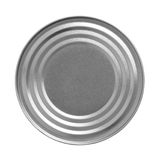 Tin can, view from the top stock photos