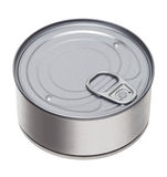 Tin can. On a white background Stock Images