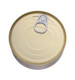 Tin can on white background Royalty Free Stock Photo