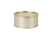 Tin can on white Royalty Free Stock Image