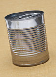 Tin Can on Yellow Royalty Free Stock Photos
