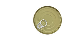 Tin can. Zealed tin can isolated on white background and clipping path Stock Photos