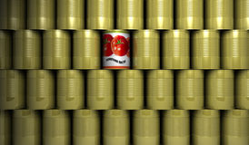 Tin Cans. The tin Canisters. gold. Cans Royalty Free Stock Image