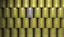 Tin Cans. The tin Canisters. silver. Cans Royalty Free Stock Photography