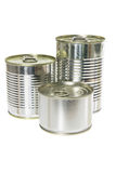 Tin Cans. On White Background Royalty Free Stock Images