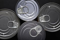 Tin cans from above Royalty Free Stock Images