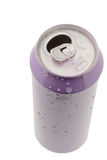 Tin cans for beverages Stock Photos