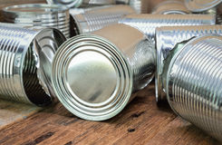 Tin cans for food Royalty Free Stock Photo
