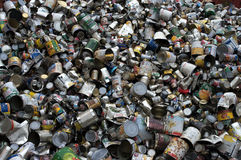 Tin cans load Stock Photo