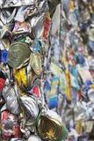 Tin Cans For Recycling machacado Imágenes de archivo libres de regalías