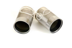 Tin cans on a string Royalty Free Stock Images