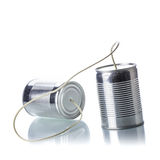 Tin cans telephone Royalty Free Stock Photography