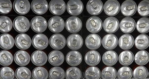 Tin cans viewed from above. Soda / beer/ cola tin cans, viewed from above Stock Image