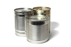 Tin Cans on White Royalty Free Stock Images
