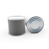 Tin cans on white Stock Image