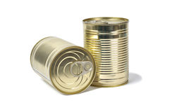 Tin Cans on White Stock Photos